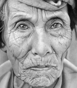 Mark Stewart写实人物肖像铅笔画作品欣赏(8)