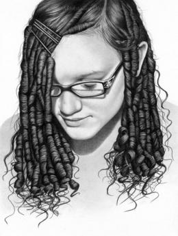 Mark Stewart写实人物肖像铅笔画作品欣赏(5)