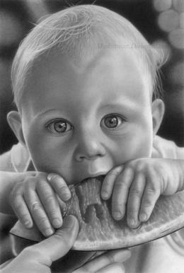 Mark Stewart写实人物肖像铅笔画作品欣赏(9)