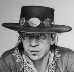 Mark Stewart写实人物肖像铅笔画作品欣赏(4)