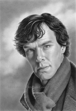 Mark Stewart写实人物肖像铅笔画作品欣赏(10)