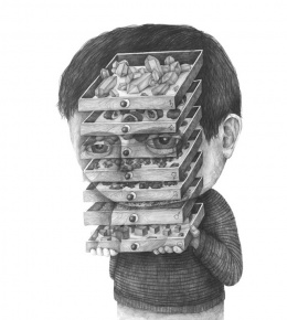 大师超现实肖像设计素描作品欣赏(4)