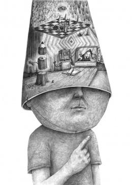 大师超现实肖像设计素描作品欣赏(10)
