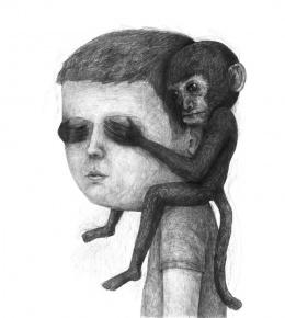 大师超现实肖像设计素描作品欣赏(2)